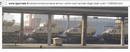 Abrams tanks transiting toward Ukraine 3-15